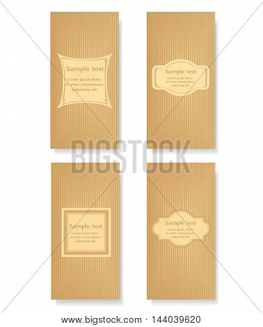 vector set of design leaflets banners posters stickers flyer. Frame for your text on abstract background with stripes.