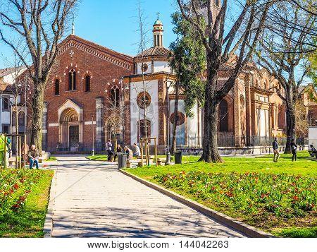 Sant Eustorgio Church Milan (hdr)
