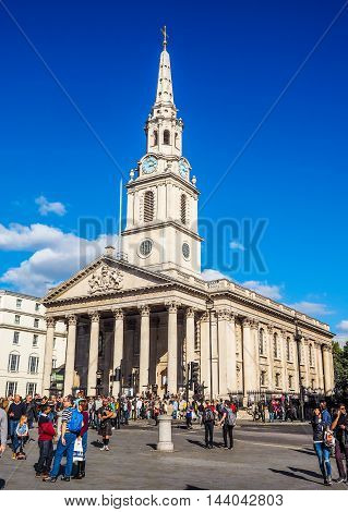 Trafalgar Square In London (hdr)