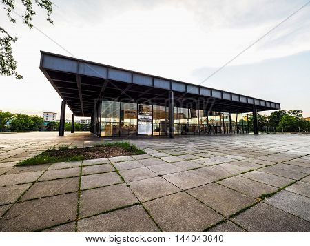 Neue Nationalgalerie In Berlin (hdr)