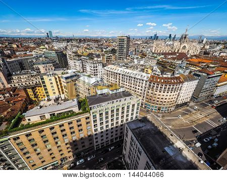 Aerial View Of Milan, Italy (hdr)