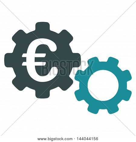 Euro Mechanics icon. Glyph style is bicolor flat iconic symbol, soft blue colors, white background.