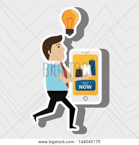 man credit card idea vector illustration eps 10