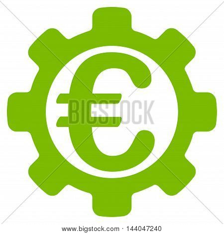 Euro Payment Options icon. Glyph style is flat iconic symbol, eco green color, white background.