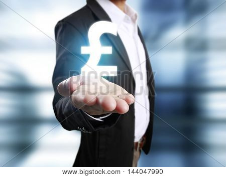 Money icon in hand, money concept