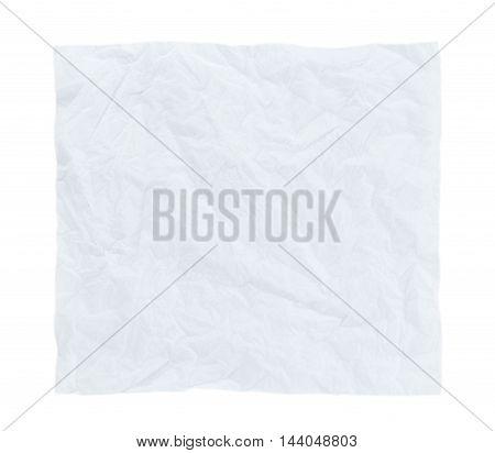 Closeup Paper texture. White crumpled paper sheet