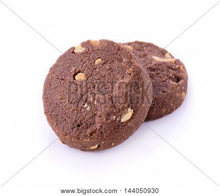 Closeup cookie on white background. food. cookie