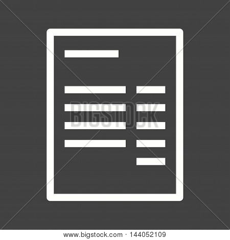 Dollar, cash, receipt, icon vector image. Can also be used for currency. Suitable for web apps, mobile apps and print media.