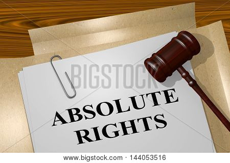 Absolute Rights - Legal Concept