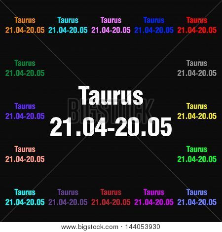 Taurus Icon Sign. Lots Of Colorful Symbols For Your Design. Vector