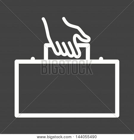 Business, walking, briefcase icon vector image. Can also be used for hand actions. Suitable for use on web apps, mobile apps and print media.