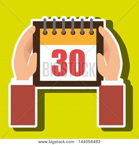 calendar tax payment money vector illustration eps 10