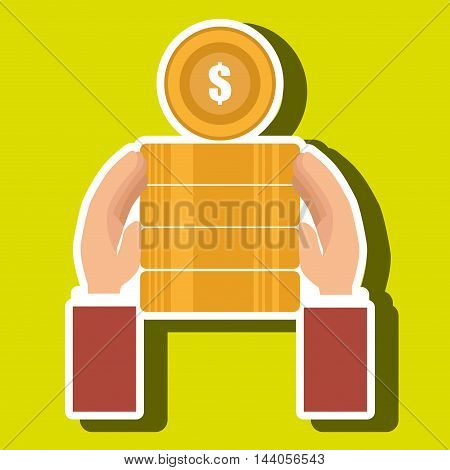 currency pile money coin vector illustration eps 10