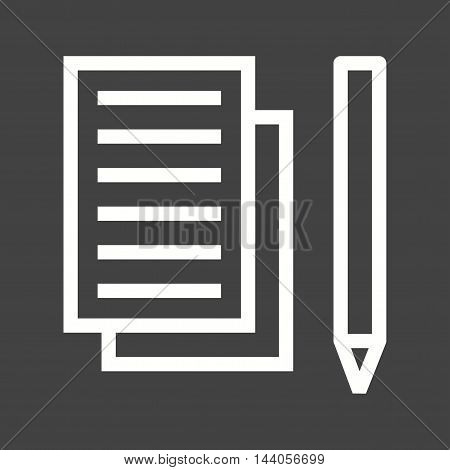 Taking, notes, writing icon vector image. Can also be used for startup. Suitable for web apps, mobile apps and print media.