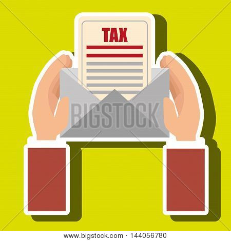 tax payment budget return vector illustration eps 10