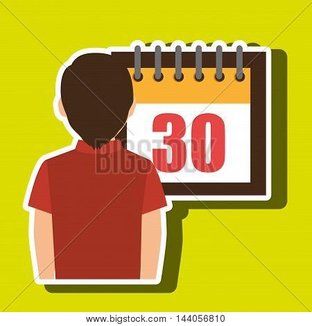person calendar date tax payment vector illustration eps 10