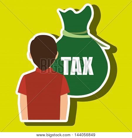 person tax payment vector illustration eps 10