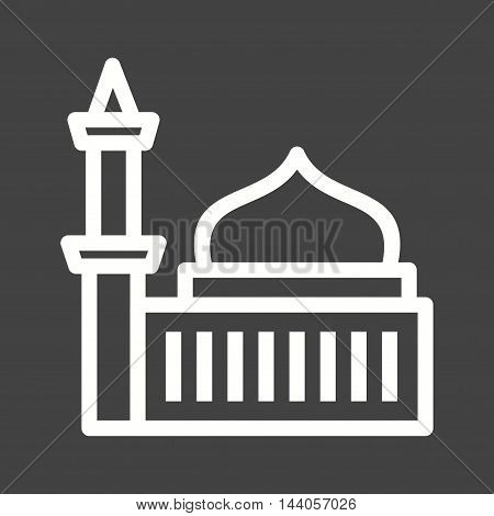 Mosque, religion, islam icon vector image. Can also be used for islamic. Suitable for mobile apps, web apps and print media.
