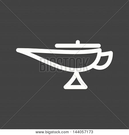 Lamp, magic, arabic icon vector image. Can also be used for islamic. Suitable for mobile apps, web apps and print media.