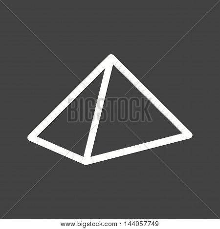 Egypt, pyramids, desert icon vector image. Can also be used for islamic. Suitable for mobile apps, web apps and print media.