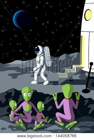 Alien - Vector illustration - EPS .