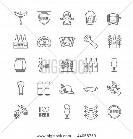 Vector Oktoberfest thin line icons for your design