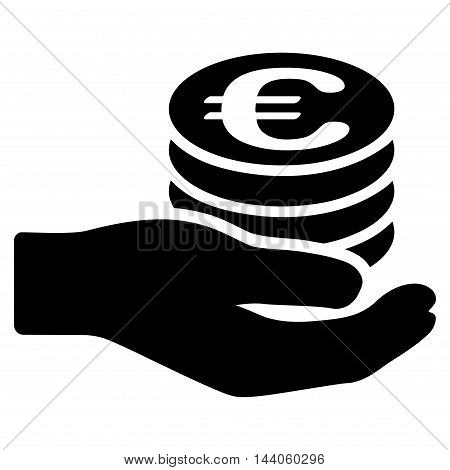Euro Salary Icon. Vector Style Vector & Photo | Bigstock