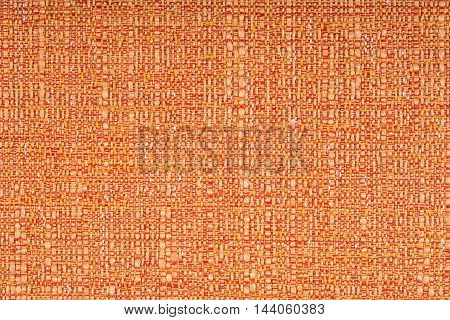orange fabric texture background. Abstract background, empty template.