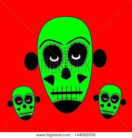 Skull vector for fashion design, pattern, background or tattoo, day of the dead