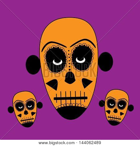 Skull vector background for fashion design, patterns, tattoos , day of the dead