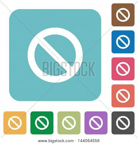 Flat blocked icons on rounded square color backgrounds.