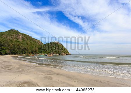 Fishing village and sunshine day at Sam Roi Yot Prachuapkhirikhan Thailand