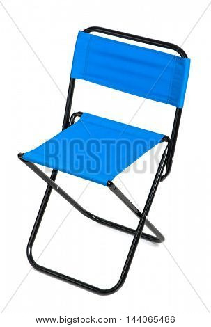 Folding chair isolated on white background