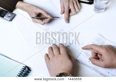 Geschäftsleute, die Planung