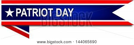 patriot day USA September 11 flag banner on illustration on white background