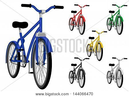 Bicycle - Vector illustration - EPS .