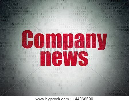 News concept: Painted red word Company News on Digital Data Paper background
