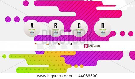 Abstract Liquid Bubbles Shapes for Background. Vector Illustration. Circles Pattern for Business Presentations, Application Cover or Web Site Design.