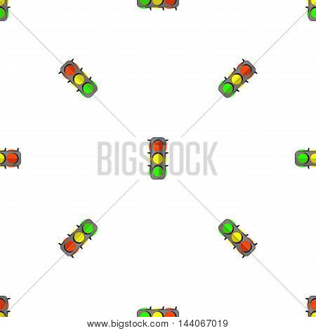 Traffic Light Seamless Pattern. Road Street Background