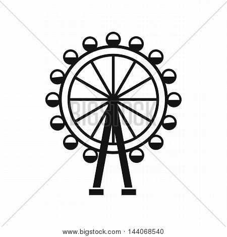 Ferris wheel icon in simple style isolated on white background. Entertainment symbol
