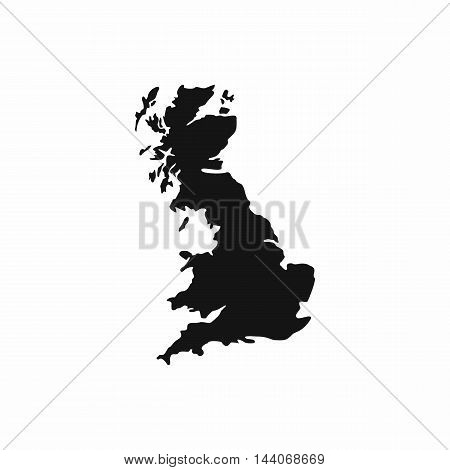 Map of Great Britain icon in simple style isolated on white background. State symbol