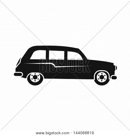 Retro car icon in simple style isolated on white background. Transport symbol