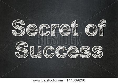 Finance concept: text Secret of Success on Black chalkboard background