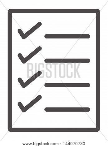 Checklist icon from Business, Checklist vector icon, Checklist icon  symbol