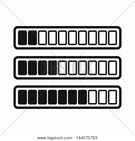 Sign horizontal columns download online icon in simple style isolated on white background. Loading symbol