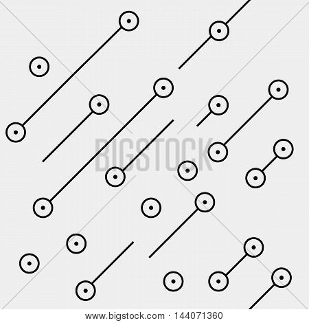 Black and white geometric minimal pattern microchip, rounds or dots with diagonal lines.