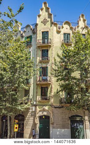 Architecture Of Rambla Del Poblenou Street In Barcelona