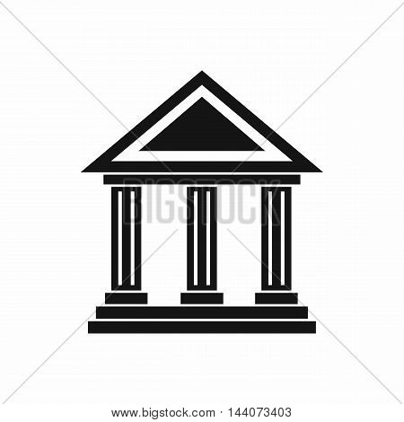Colonnade icon in simple style isolated on white background. Structure symbol