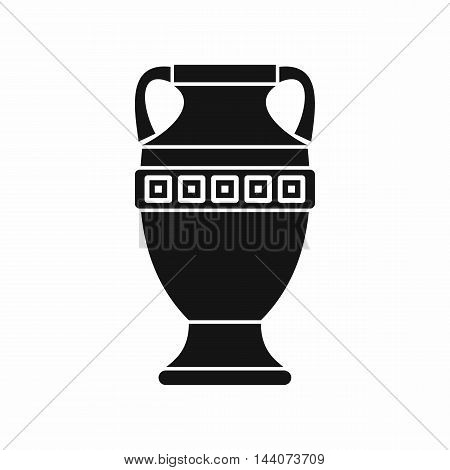 Ancient jug icon in simple style isolated on white background. Dishes symbol