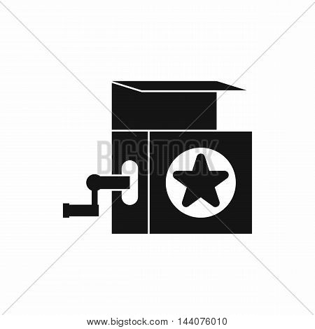 Music box icon in simple style isolated on white background. Entertainment symbol